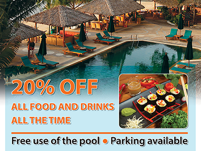 20% off at Friendship Beach restaurant